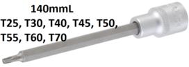 Chiave a bussola lunghezza 140 mm 12,5 mm (1/2) profilo a T (per Torx) T25