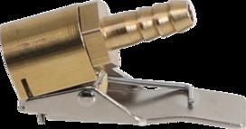 Manometro per pneumatici, attacco tubo flessibile 6 mm