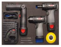 3/3 Set di lucidatrice e smerigliatrice a batteria del modulo utensili