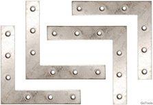 Kit staffa in acciaio in 4 pezzi, 100x100x15 mm