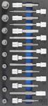 Bit Cap Set 12,5 mm (1/2) esagono interno 24 pz