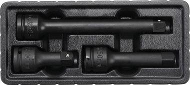 Set di prolunga esterno/interno quadrato potenza 20 mm (3/4) 3 pz