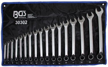 17 pezzi Combinazione di chiavi Combinazione di chiavi Anello offset 8-27 mm