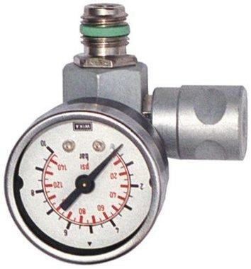 Regolatore di pressione in linea con manometro