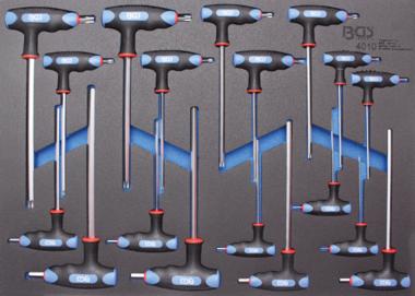 3/3 Modulo utensile 18 pezzi Int. esadecimale. Chiave per barra a T e torx