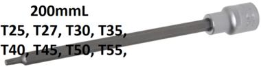 Chiave a bussola lunghezza 200 mm 12,5 mm (1/2) profilo a T (per Torx)