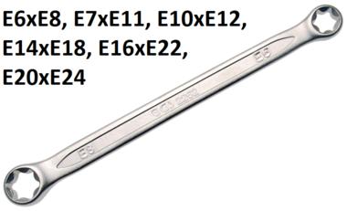 Serie di chiavi a doppio anello con estremita ad anello e profilo E