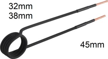 Bobina di induzione per riscaldatore ad induzione forma diritta