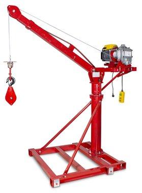 Gru mobile 500 kg con verricello elettrico 230v