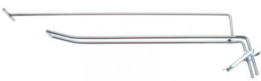 Gancio a parete doppio 300 x 4,8 mm con braccio di supporto e perno a croce