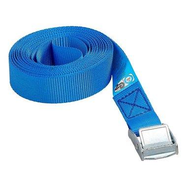 Cinghia di fissaggio blu con sgancio rapido 5 metri