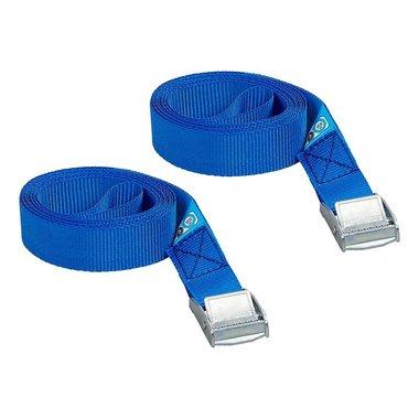 Cinghia di fissaggio blu con sgancio rapido 2x2,5 metri