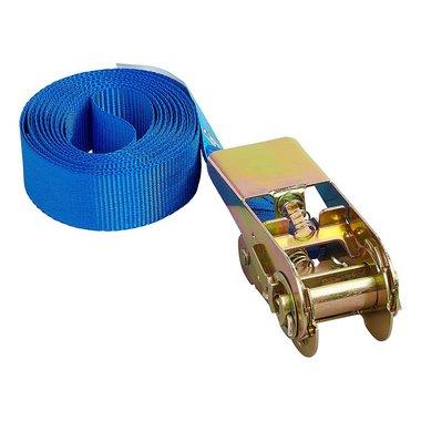 Cinghia di fissaggio blu con cricchetto 3,5 metri