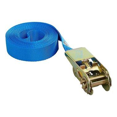 Cinghia di fissaggio blu con cricchetto 5 metri