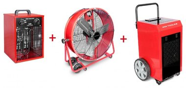 Set Asciugatrice BD90P + Ventilatore MV600L + Riscaldatore