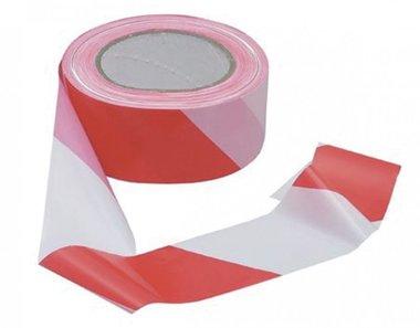 Nastro rimovibile rosso e bianco 50mm