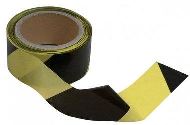 Uscita nastro nero-giallo 50mm
