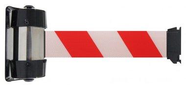 Nastro a barriera bianco/rosso per montaggio a parete 4 metri