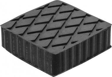 Tampone in gomma per piattaforme elevatrici 116,5 x 116,5 x 36,5 mm