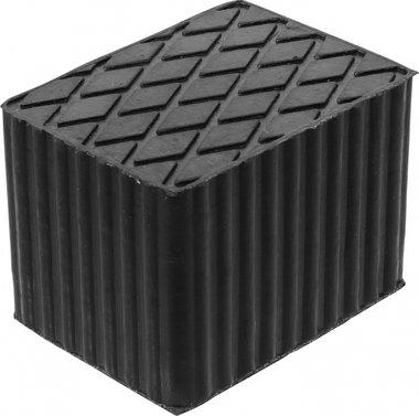 Tampone in gomma per piattaforme di sollevamento 160 x 120 x 115 mm