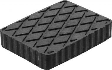Tampone in gomma per piattaforme di sollevamento 160 x 120 x 30 mm