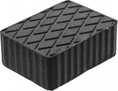Tampone in gomma per piattaforme di sollevamento 160 x 120 x 60 mm