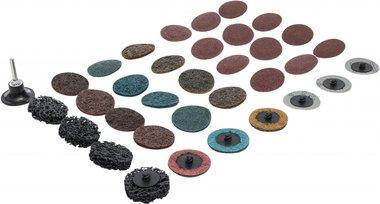 Set di dischi da macinazione e di supporto diametro 50 mm 35-dlg