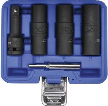 Set di ginocchiere speciali per chiavi a bussola Hexagon e cacciavite 17 - 19 - 21 mm (1/2) 3-dlg