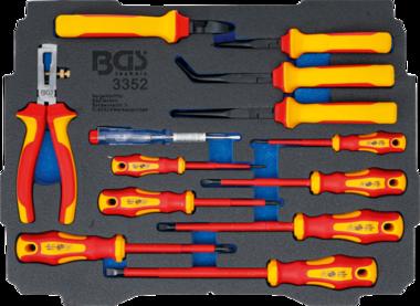 Modulo per BGS BOXSYS1 & 2: Serie di cacciaviti e pinze per elettricisti VDE | 13 pz