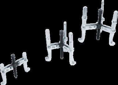Serie di estrattori per interni / esterni, 2 e 3 bracci 100 / 120 / 150mm 3 pz.