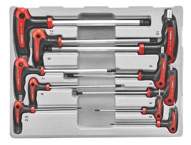 Set di chiavi con impugnatura a T per chiavi a sfera 10 parti