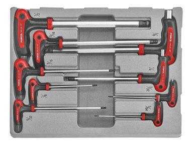 Set di chiavi a sfera con impugnatura a T SAE 9 pezzi