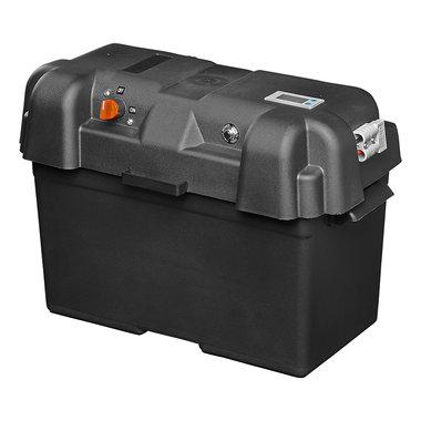 Vano batterie 35x18x23 cm 2x USB - 1x presa 12V - Voltmetro - 2x connettori Anderson