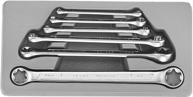 Set di chiavi a doppio anello Torx 6 pezzi