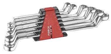 Set di chiavi ad anello doppio SAE 6 pezzi (75° piegato)