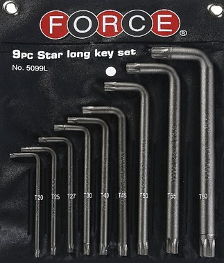Set di chiavi Torx angolate 9 pezzi
