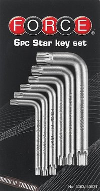 Set di chiavi angolari Resistorx 6 pezzi