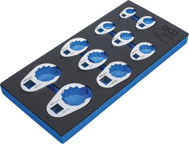 Modulo per carrelli portautensili 1/3: set di chiavi a zampa di gallo 10 mm (3/8) / 12,5 mm (1/2) / 20 mm (3/4) 10 pz