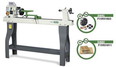 Tornio per legno DB1100, mandrino e scalpello girevole