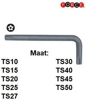 Set di chiavi angolari Torx TS a 5 lati