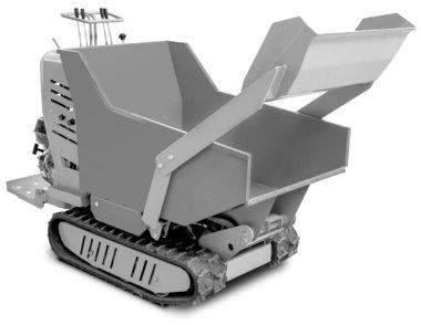 Mini dumper cingolato idrostatico con cassone di carico 500kg