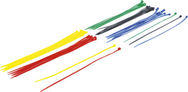 Assortimento fascette per cavi colorate 4,8 x 300 mm 50 pz