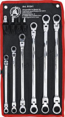 Ratel knie ringsleutelset   8 - 19 mm   10-dlg