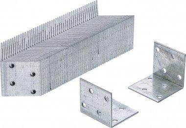 Imballaggio per giunti ad angolo 40x40x40x40x40x2 mm, zincato