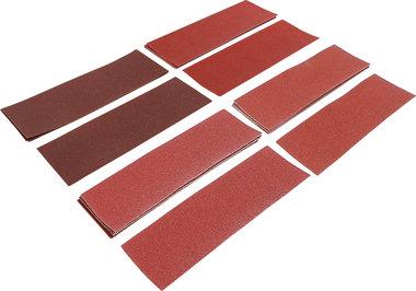 Set di fogli abrasivi levigatrici orbitali / tampone con morsetti 93 x 230 mm K 60 - 180 25 pz.
