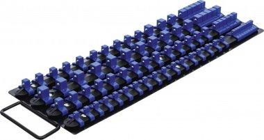 Set di guide portainserti a bussola con 80 clip per inserti da 6,3 mm (1/4), 10 mm (3/8), 12,5 mm (1/2)