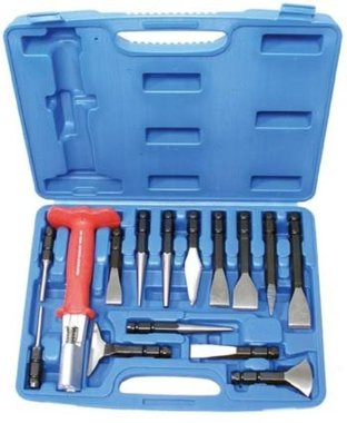 Set di scalpelli e tasselli a freddo, 15 pezzi