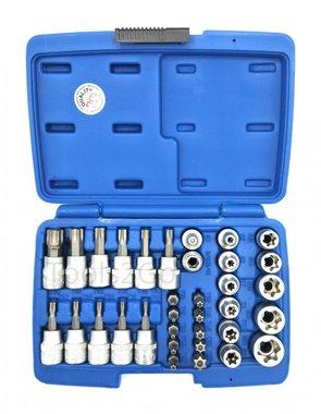 Set di punte e tappi 10 mm (3/8) Torx 34 pezzi