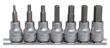 Set di punte esagonali -mm 3/8 7 pezzi