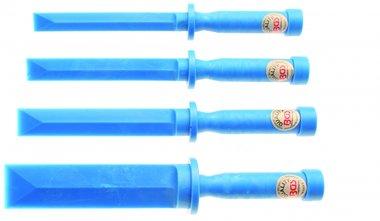 Set di raschietti in plastica 19 - 22 - 25 - 25 - 38 mm di larghezza 4 pezzi
